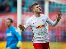 RB Leipzig's Timo Werner scored twice against Freiburg. AFP
