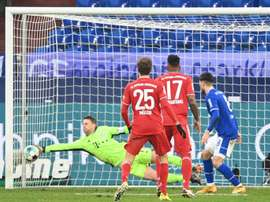 Neuer sets new Bundesliga record for most clean sheets. AFP