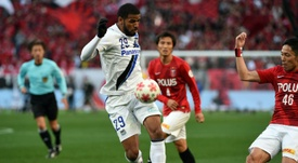 Gamba Osakas Patric scored two goals to retain the Emperors Cup, beating Urawa Reds 2-1 in Tokyo on January 1, 2016
