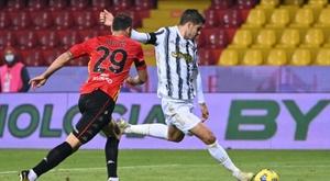 Juventus will appeal Alvaro Morata's (R) two game ban. AFP