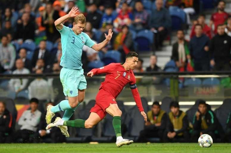 El Barça se olvida definitivamente de De Ligt. AFP