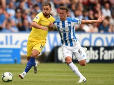 Hazard came on as a substitute against Huddersfield. AFP