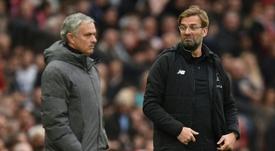 Mourinho vs Klopp: 2 victoires du Portugais, 6 de l'Allemand. AFP