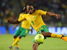 Siphiwe Tshabalala levelled the scores just before the break. AFP