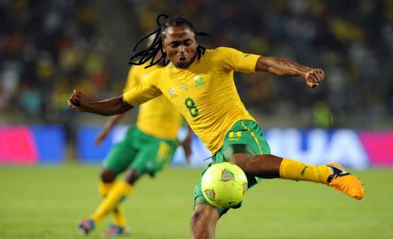 Siphiwe Tshabalala levelled the scores just before the break. AFP