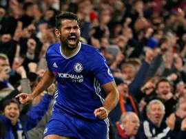 Costa celebrating a goal. AFP