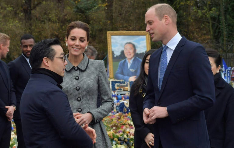 Prince William and Kate attend tribute to Leicester helicopter crash victims