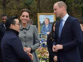 The Royals visited to pay respects after the tragic death of the Leicester chairman. AFP