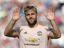 Shaw mocked Pogba on Twitter following his penalty miss. AFP