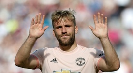 Luke Shaw set to complete new United contract. AFP