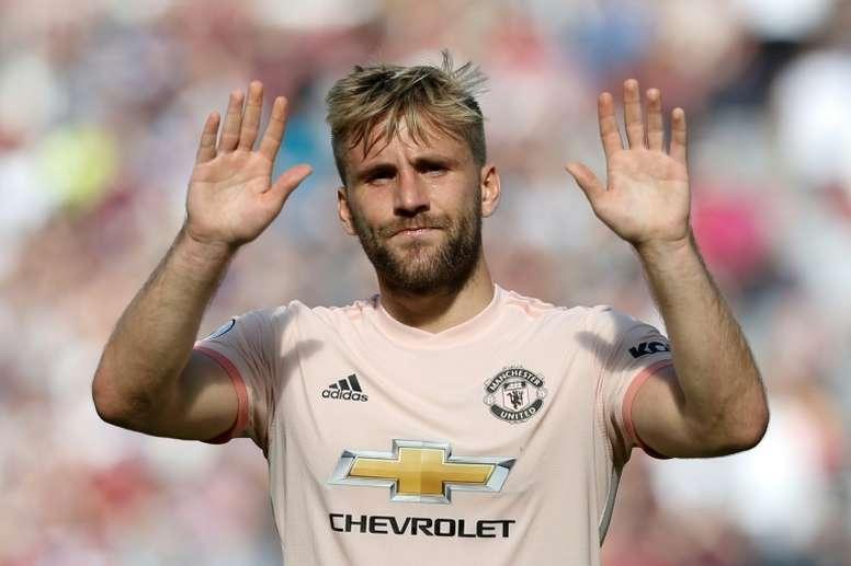 Luke Shaw s'en prend à Arsenal. AFP