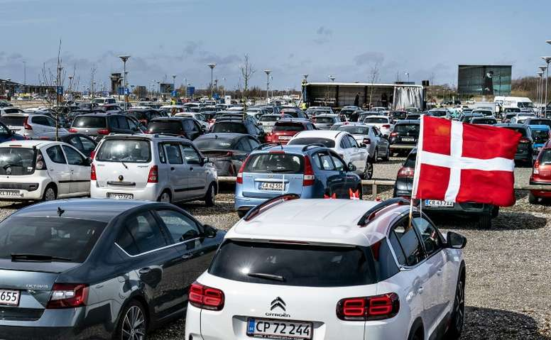 Midjtylland fans will be able to watch football in their cars once football resumes. AFP