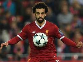 Salah voltou a brilhar. AFP