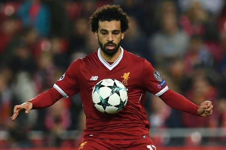Salah got himself on the scoresheet once again against Maribor. AFP