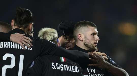 Rebic fires resurgent AC Milan into Europa League places. AFP