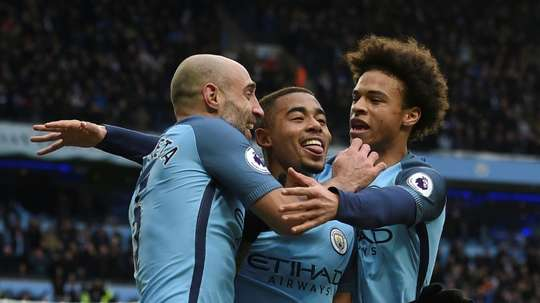 Gabriel Jesus has gone almost a year without losing a competitive game. AFP