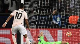 Marcus Rashford a envoyé United en quarts de finale grâce à un pénalty historique. AFP
