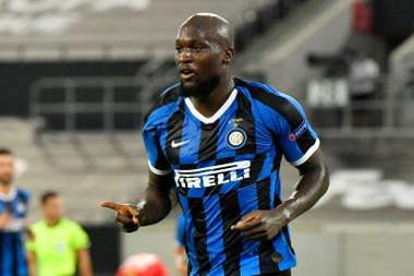 Romelu Lukaku scored in Inter's quarter-final win over Leverkusen. AFP