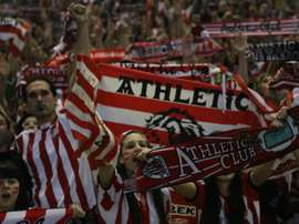 Supporters of Athletic Bilbao on May 25, 2012