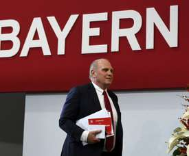 Hoeness confirms he will step down as Bayern president. AFP