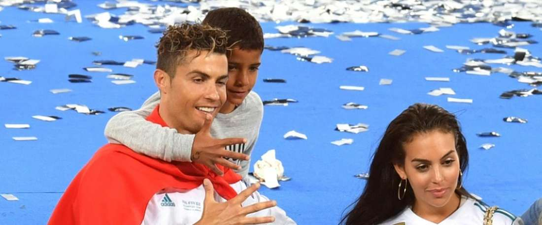 Ronaldo revealed that Cristiano Jr was a promising footballer. AFP