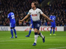 Kane led the way for a Tottenham rout of Cardiff. AFP