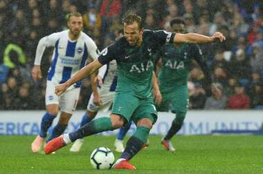 Kane ended his drought from the penalty spot. AFP
