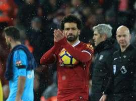 Salah marcou quatro.