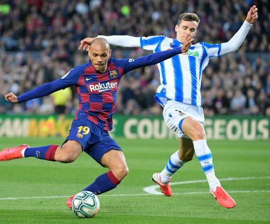 Braithwaite: People see me as the emergency signing but I deserve to be at Barca. AFP