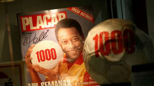 It's 50 years since Pele scored his 1000th goal. AFP
