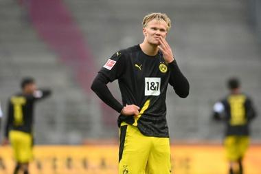 Haaland drew a blank for Borussia Dortmund at Augsburg on Saturday. afp_en