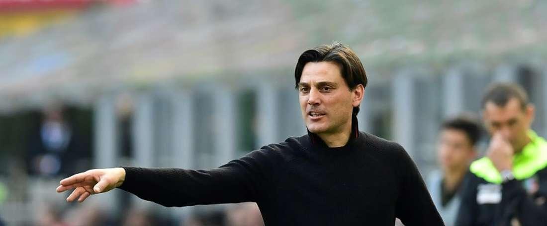 Vincenzo Montella, o 'arquiteto' do novo Milan. AFP