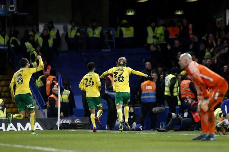 El Norwich vuelve a la Premier League. AFP