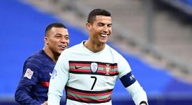 A mensagem de Cristiano Ronaldo após o 'Clásico'. AFP