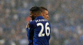 Mahrez and Vardy made Leicester's dream come true. AFP