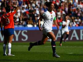 Carli Lloyd made history with her two goals on Sunday. AFP