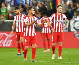 Atletico Madrid dropped two points in Vitoria v Alaves. AFP