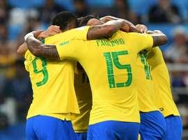Thiago Silva grabbed Brazil's second. AFP