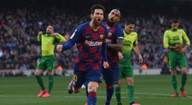 Messi has got a huge 4 goal advantage at the top of the 2019-20 La Liga top scorers list. AFP
