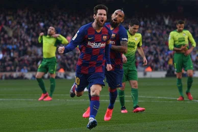 Messi has got a huge 5 goal advantage at the top of the 2019-20 La Liga top scorers list. AFP