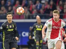 Zidane voudrait convaincre De Ligt de venir. AFP