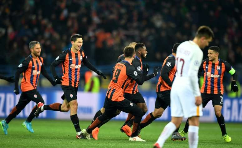 Fred powered home to give Shakhtar the win. AFP