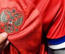 Rússia recusa nova camisa criada para sua Seleção. AFP