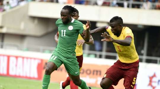 Moses in action for Nigeria. AFP