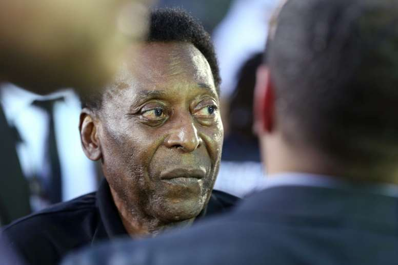 Pele spoke about Brazil and the impending World Cup. AFP
