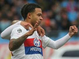 O Lyon venceu o Troyes por 0-5. AFP