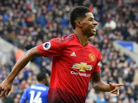 Marcus Rashford is gearing up for a contract renewal with Man U. AFP