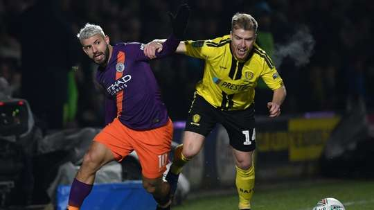 Aguero's goal was the difference at the Pirelli stadium. AFP