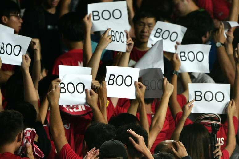 FIFA fines Hong Kong after fans whistle Chinese anthem. AFP