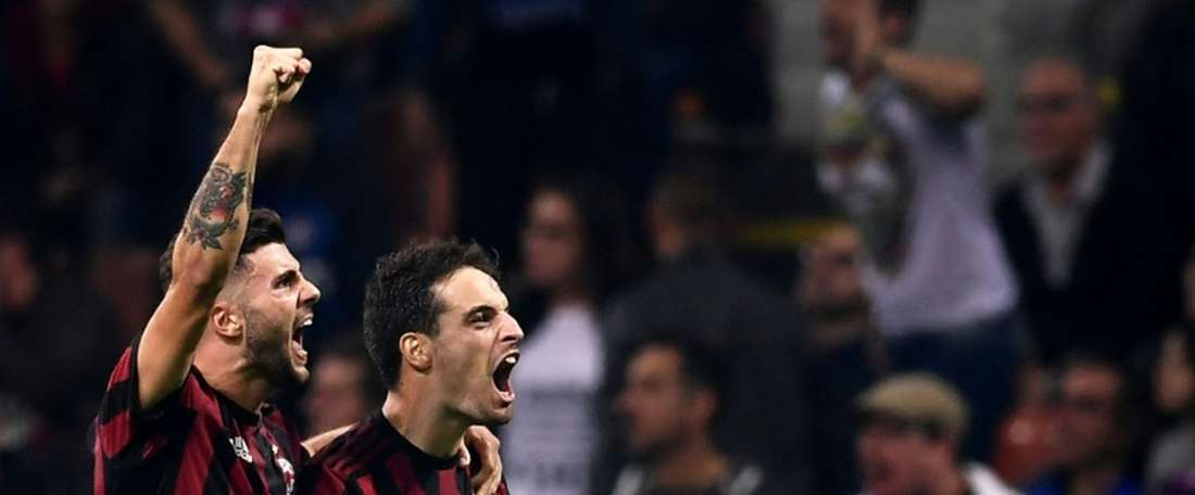 O Milan está de regresso aos triunfos na liga. AFP
